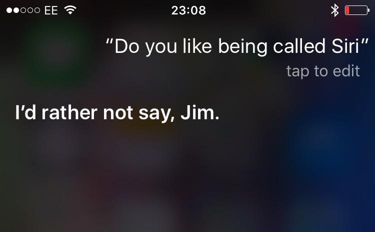 Siri doesn't like its name